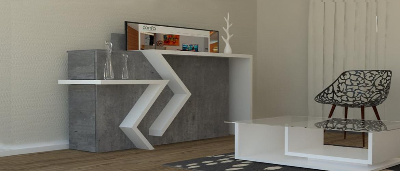 Muebles con televisor oculto